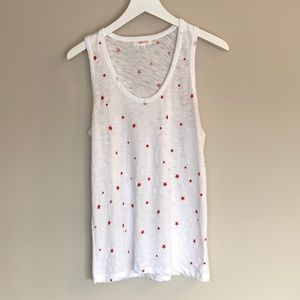 GOLDIE Star Tank Top in white✨🌟